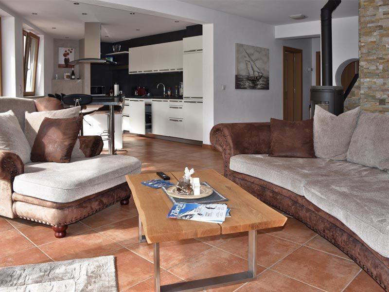 Wohnzimmer im Apartment Stratus